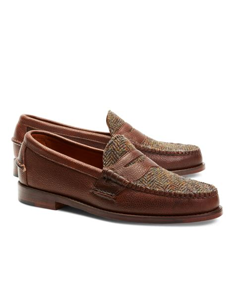 pennie loafers lyst brothers rancourt co wool plaid