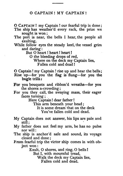O Captain My Captain Essay by 17 Best Ideas About Captain My Captain On Captain Sparrow And