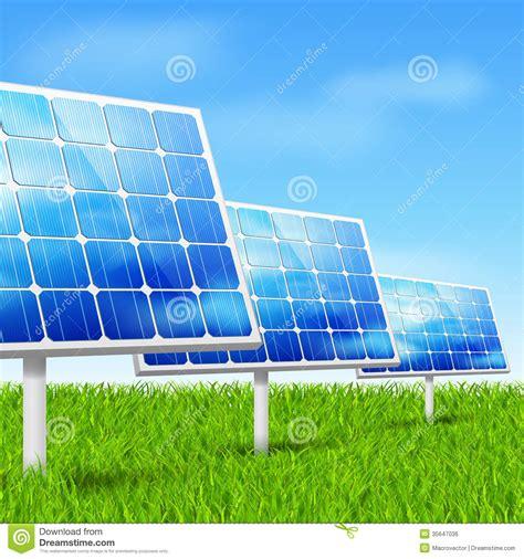 eco energy solar panels royalty free stock image image