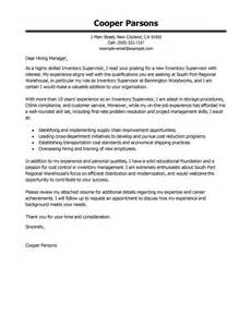 Cover Letter Sle For Warehouse Position by Cover Letter For Sales
