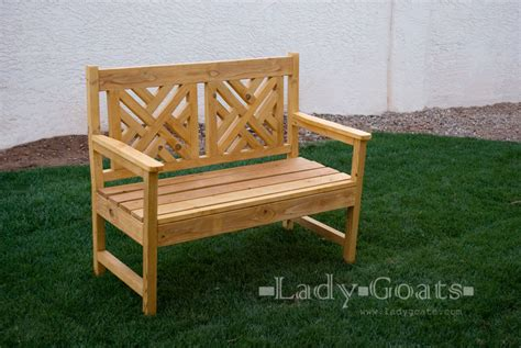 pdf how to make a wooden bench with back plans free