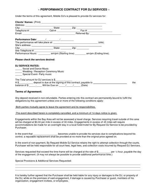Mobile Dj Contract Dj Service Contract 2011 Current Places To Visit Event Services Mobile Dj Contract Template