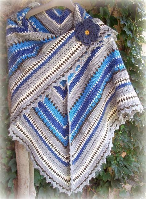 Pinterest Shawl Crochet Pattern | zooty owl s forever in blue jeans triangle shawl crochet