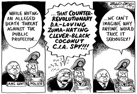 why would anyone want an zapiro why would anyone want to threaten thuli madonsela