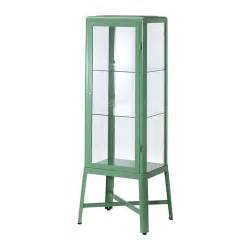 ikea fabrikor fabrik 214 r glass door cabinet light green ikea