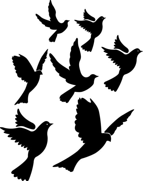 bird flying tattoo birds flying silhouette clipart best