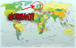 World Map Norway by Image Gallery Norway World