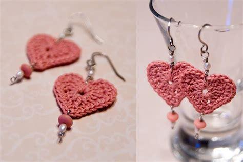 Free Crochet Pattern Heart Earrings | aros on pinterest crochet earrings crochet necklace and