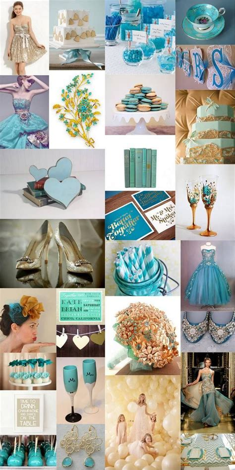 Teal, Turquoise & Gold Wedding Theme   Confetti Daydreams