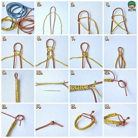 吊坠绳结编法图解 黄金吊坠绳结的打法图 各种编绳子方法大全 飞123网