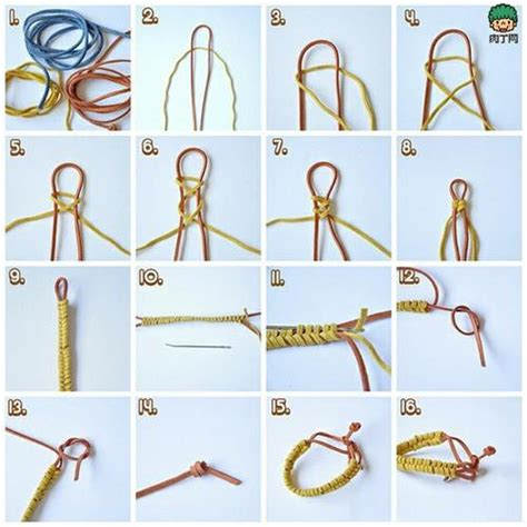 Hemp Braiding Techniques - 吊坠绳结编法图解 黄金吊坠绳结的打法图 各种编绳子方法大全 飞123网