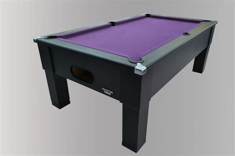 golden pool table black square leg pool table with purple smart cloth