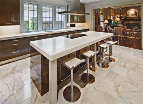 marble floor kitchen interior home design