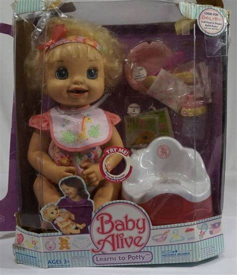 talking baby dolls baby alive learns to potty hasbro 2007 talking doll