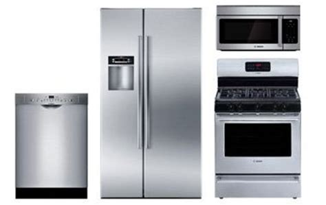 bosch kitchen appliance packages bosch stainless steel appliance package with gas range abt com