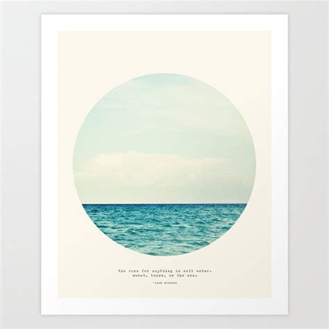 Salt Water Cure Art Print by Tina Crespo   Society6
