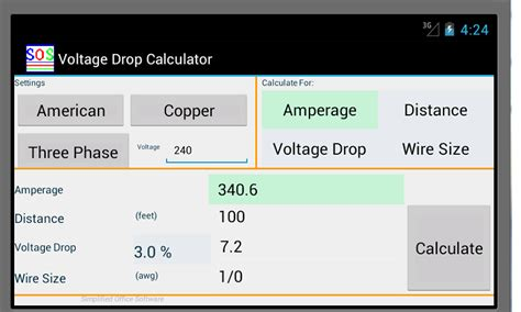 how to calculate the voltage drop across a resistor voltage drop calculator android apps on play