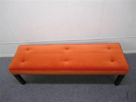 orange bench gorgeous probber style orange velvet bench mid century modern for sale at 1stdibs