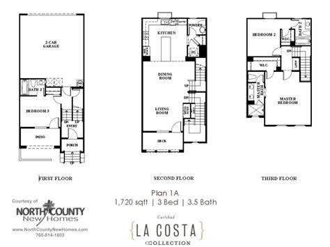 La Costa Collection Floor Plans Plan 1a North County | la costa collection floor plans plan 1a north county