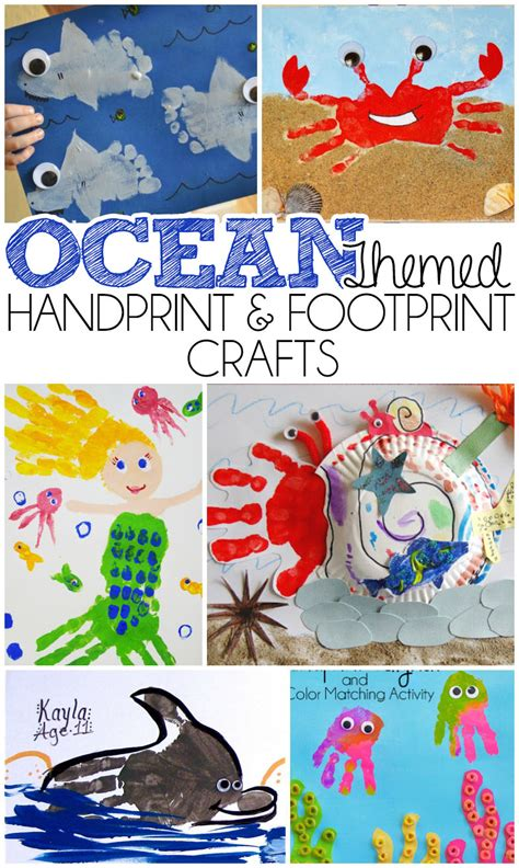 footprint crafts for themed handprint and footprint crafts i arts