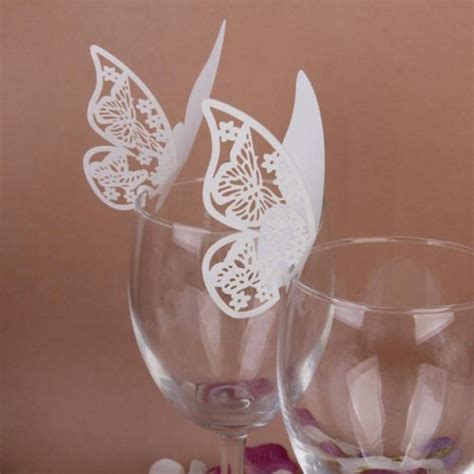 Diy Place Cards Template Butterfly by 50 Pcs Butterfly Cut Out Place Wedding Engagement