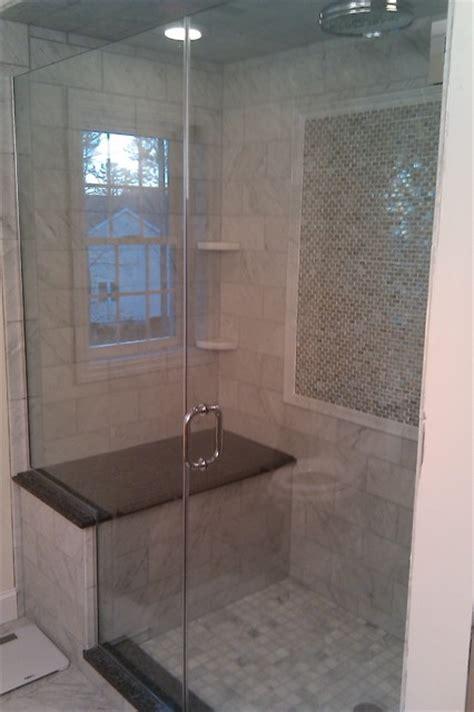 stone shower bench marble granite shower traditional bathroom boston