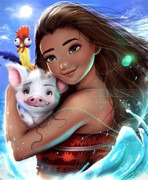 film moana su cielo fan art belle disney princess from beauty and the beast
