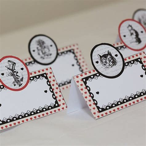 tea place cards template mad hatter place cards printable template available http