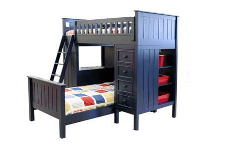 Navy Blue Bunk Bed Cground Collection Loft Bed In Navy Blue Furniture In Los Angeles
