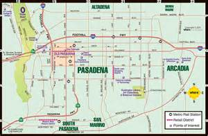 map of pasadena california pasadena map