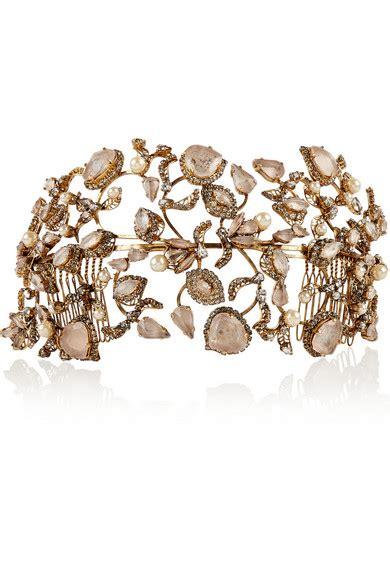 Would You Wear This Erickson Beamon Headband by Erickson Beamon Telepathic Gold Plated Swarovski