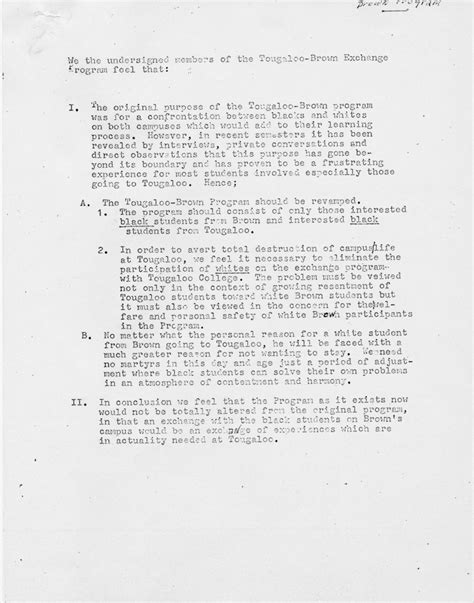 Parent Letter Exchange Student Brown Tougaloo Project Document Search Results