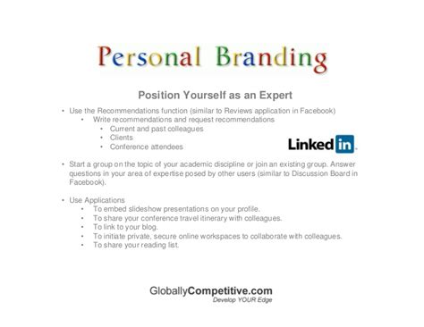 personal brand statement template personal branding using social media