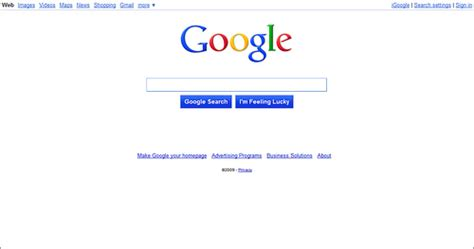design google page in html new google home page 112609 new home page design for