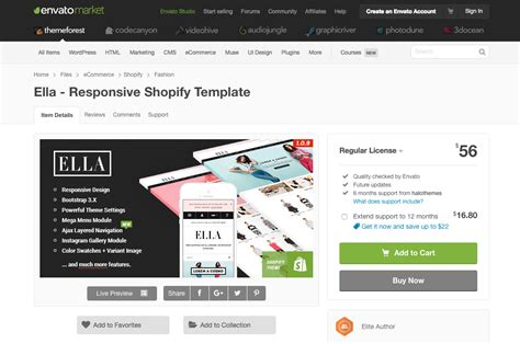 themeforest shopify our top 5 resources for the best shopify templates