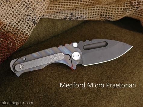 micro praetorian blue line gear custom knives multipurpose tools