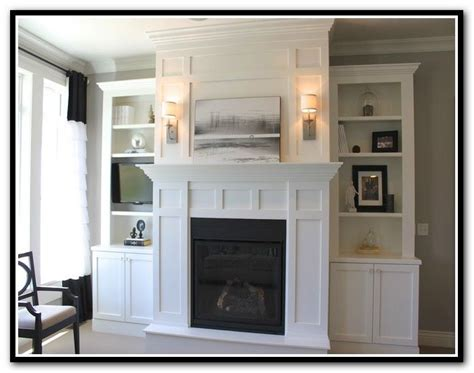 best 25 shelves around fireplace ideas on