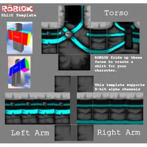 Shirt Template Roblox by Cyan And Gray Assassin Shirt Template Roblox