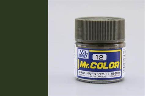 Mr Color C12 Olive Drab 1 By Mr Hobby mr color c12 olive drab