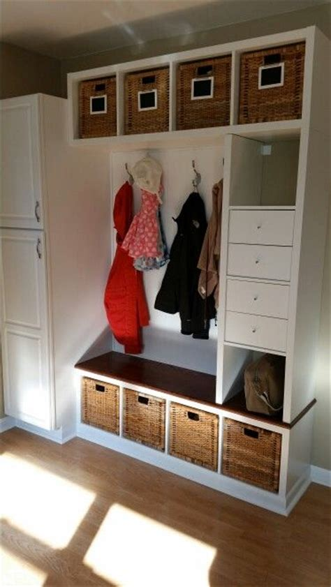 ikea mud room ikea hack mudroom bench 3 kallax shelving units and