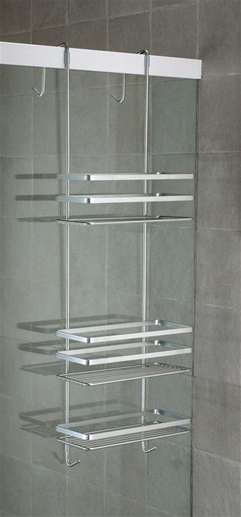 bathroom shower tidy euroshowers 25cm x 79cm x 12cm 3 tier steel shower tidy