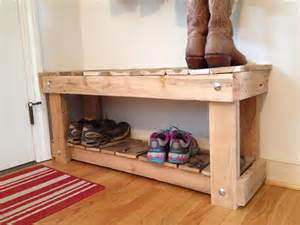 storage bench made from pallets diy pallet entryway bench and shoe rack 101 pallets