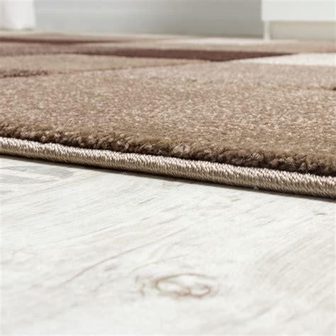 carpet cut rugs designer carpet checkered modern rug contour cut pattern brown beige modern rugs