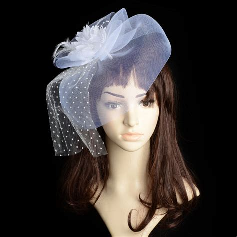Feather Wedding Veil brides wedding fascinator veil feather hair corsage