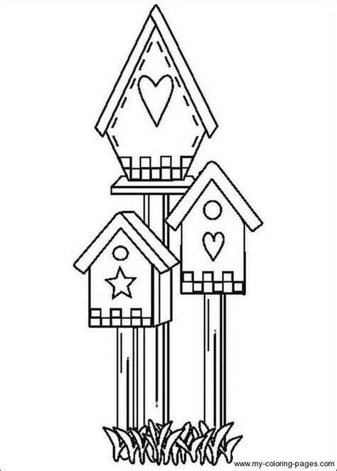 free coloring pages of bird houses bird houses to color birdhouse coloring pages 017
