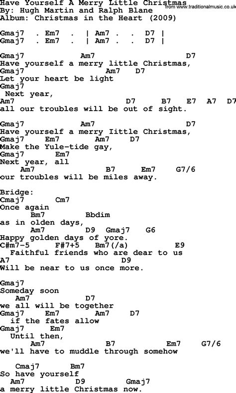 Have Yourself A Merry Little Christmas Guitar Chords