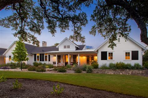 One Story Farmhouse by Coastal Cottage Single Story Exterior Farmhouse With