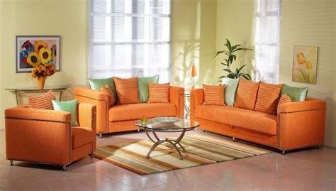 Orange Living Room Furniture 10 Vibrant Orange Living Room Interior Design Ideas Https Interioridea Net