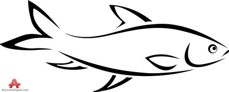 Fish Outline Clip by Fish Drawing Outline Clipart Best