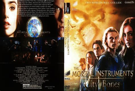 the mortal instruments 1 the mortal instruments city of bones 2013 r1 custom movie dvd front dvd cover